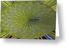 Two Saguaro Abstract #4496w3 Greeting Card