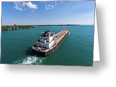 Two Ships Passing Greeting Card