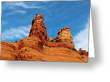 Two Sisters Formation Sedona Az Hbn2 Greeting Card