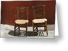 Two Spainisch Chairs  Greeting Card