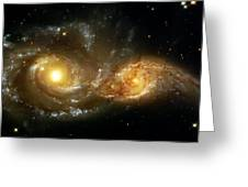 Two Spiral Galaxies Greeting Card by Jennifer Rondinelli Reilly - Fine Art Photography