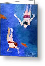 Two Swimmers Greeting Card