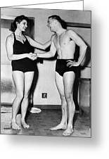 Two Swimming Stars Greeting Card