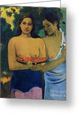 Two Tahitian Women Greeting Card