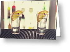 Two Tequilas Greeting Card