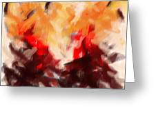 Two To Tango Abstract Greeting Card