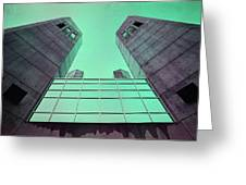 Two Towers Greeting Card