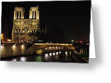 Two Towers Of Notre Dame Greeting Card