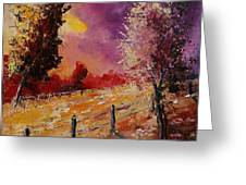 Two Trees Waiting For The Storm Greeting Card