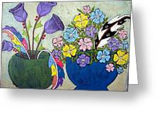 Two Vases Greeting Card