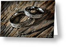 Two Wedding Rings With Celtic Design Greeting Card