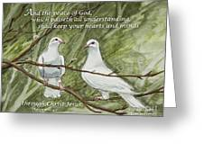Two White Doves Philippians Greeting Card