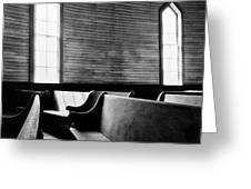 Two Window Church Greeting Card