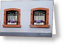 Two Windows In Schierstein Greeting Card