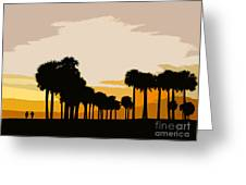 Two With The Palms Greeting Card