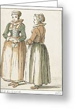 Two Women Standing Greeting Card