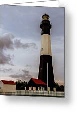 Tybee Island Lighthouse - Square Format Greeting Card