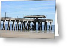 Tybee Island Pier Closeup Greeting Card by Carol Groenen