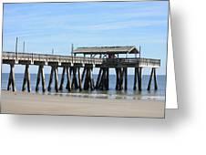Tybee Island Pier Closeup Greeting Card by Carol Groenen