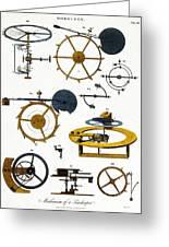 Types Of Clock Mechanism, 1810 Greeting Card