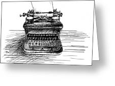 Typewriter Greeting Card