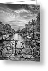 Typical Amsterdam - Monochrome Greeting Card