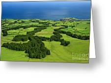 Typical Azores Islands Landscape Greeting Card