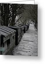 Typical Book Stands Along Seine, Autumn Greeting Card