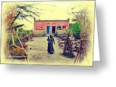 Typical House India Rajasthani Village 1j Greeting Card