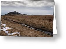 Typical Icelandic Mountain Landscape Greeting Card