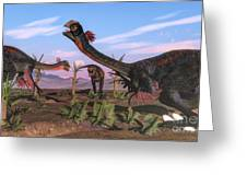 Tyrannosaurus Rex Attacking Greeting Card