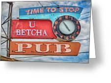 U Betcha Pub Greeting Card