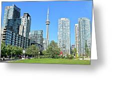 Toronto Towers From The Park Greeting Card