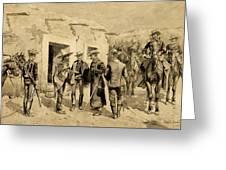 U. S. Cavalry Hunting Garza Men On The Rio Grande Greeting Card