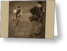 U. S. Civil War Messenger Boy On The Run Greeting Card