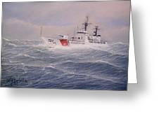 U. S. Coast Guard Cutter Gallitin Greeting Card by William H RaVell III