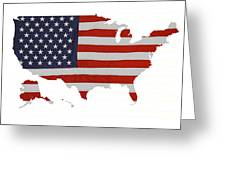 U S Map Stars N Stripes  Greeting Card