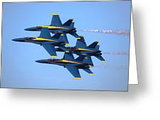 U S Navy Blue Angeles, Formation Flying Greeting Card