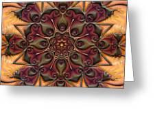 u046-b Quartetweaks Of An 8-Petaled Mandalwork 2 Greeting Card