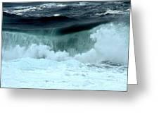 Ucluelet Breaking Waves Greeting Card