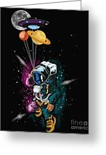 Ufo Astronaut Spaceshuttle Space Force Greeting Card