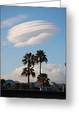 Ufo Cloud Over Palm Springs Greeting Card