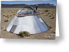 Ufo Landing Greeting Card
