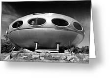 Futuro House Ufo Greeting Card
