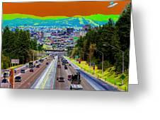 Ufo Over Spokane Greeting Card