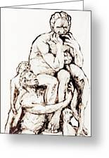 Ugolino And His Sons Greeting Card