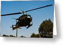 Uh-1 Huey Arrival Greeting Card