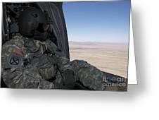 Uh-60 Black Hawk Crew Chief Takes Greeting Card