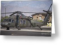 Uh-60 Black Hawk Helicopter At Pinal Greeting Card