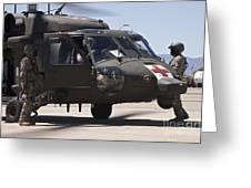 Uh-60 Black Hawk Refuels Greeting Card